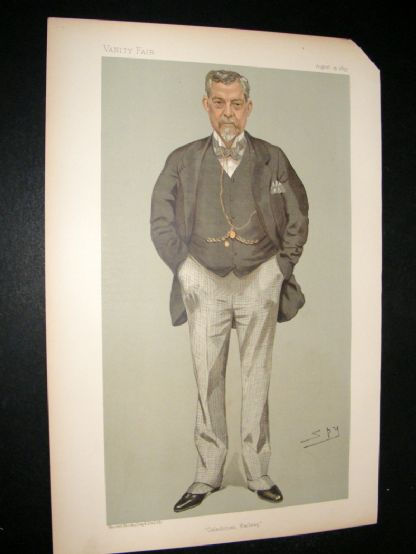 Vanity Fair Print 1895 James Thompson, Railwayman | Albion Prints